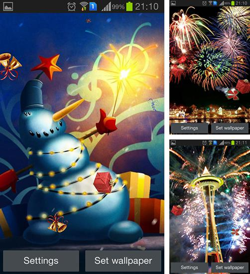 In addition to live wallpaper Rains for Android phones and tablets, you can also download New Year's Eve for free.