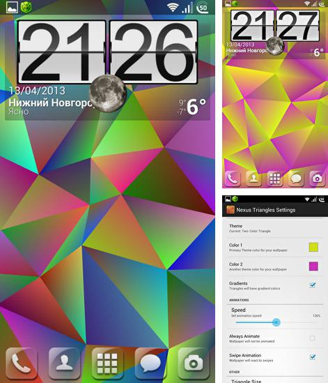 Download live wallpaper Nexus triangles for Android. Get full version of Android apk livewallpaper Nexus triangles for tablet and phone.