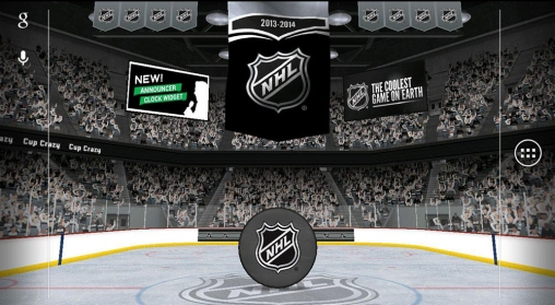 Screenshots of the NHL 2014 for Android tablet, phone.