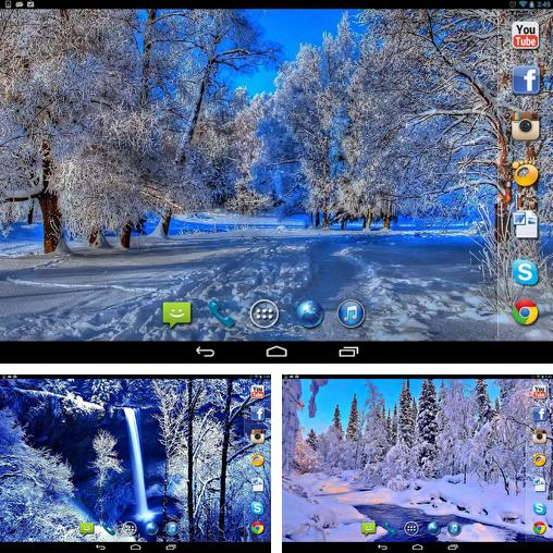 In addition to live wallpaper My name 2 for Android phones and tablets, you can also download Nice winter for free.
