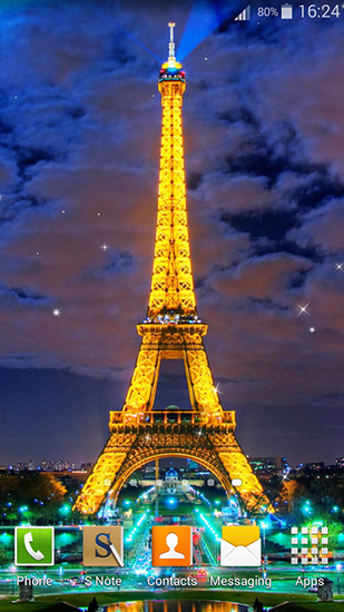 Kostenloses Android-Live Wallpaper Nacht in Paris. Vollversion der Android-apk-App Night in Paris für Tablets und Telefone.