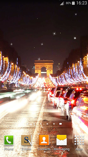 Night in Paris für Android spielen. Live Wallpaper Nacht in Paris kostenloser Download.