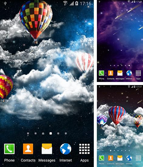 In addition to live wallpaper Season fall for Android phones and tablets, you can also download Night sky by Amax lwps for free.