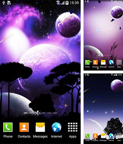 Night sky by BlackBird Wallpapers