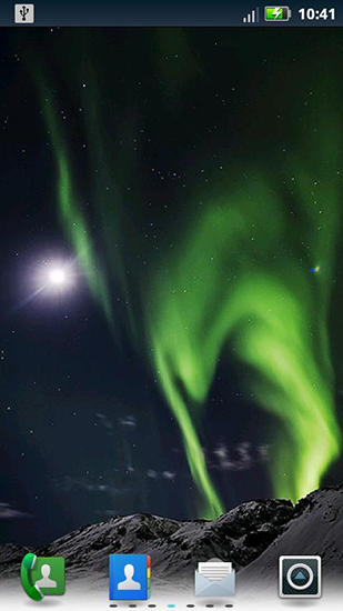 Screenshots of the Northern lights for Android tablet, phone.