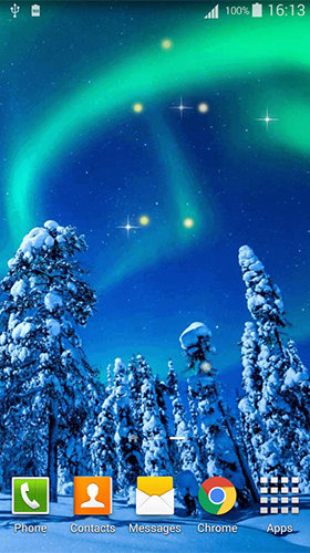 Téléchargement gratuit de Northern lights by Dream World HD Live Wallpapers pour Android.