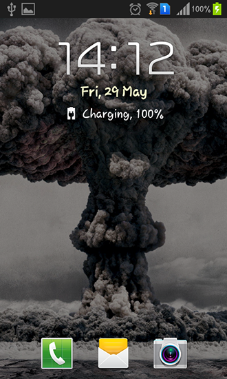 Screenshots of the Nuclear explosion for Android tablet, phone.