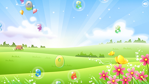 Screenshots von Number bubbles for kids für Android-Tablet, Smartphone.