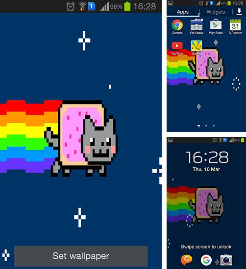 In addition to live wallpaper Eagle for Android phones and tablets, you can also download Nyan cat for free.