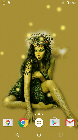 Fondos de pantalla animados a Nymph by Free wallpapers and backgrounds para Android. Descarga gratuita fondos de pantalla animados Ninfa .