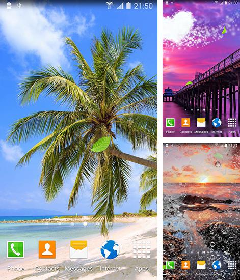 In addition to live wallpaper Egyptian pyramids for Android phones and tablets, you can also download Ocean by Amax lwps for free.