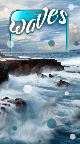 Screenshots of the Ocean waves by Keyboard and HD Live Wallpapers for Android tablet, phone.