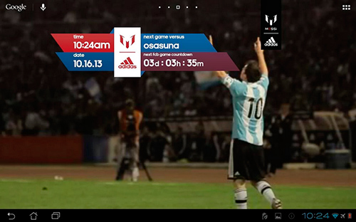 Kostenloses Android-Live Wallpaper Messi Offiziell. Vollversion der Android-apk-App Official Messi für Tablets und Telefone.