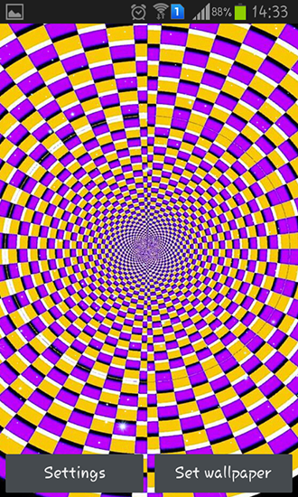 Screenshots of the Optical illusions for Android tablet, phone.