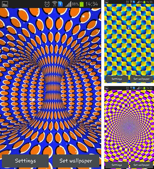 In addition to live wallpaper Shiny butterfly for Android phones and tablets, you can also download Optical illusions for free.