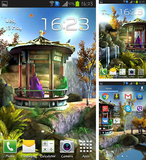In addition to live wallpaper Thanksgiving by Fantastic Live Wallpapers for Android phones and tablets, you can also download Oriental garden 3D for free.