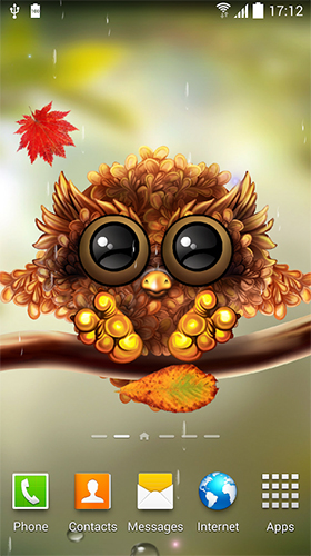 Kostenloses Android-Live Wallpaper Eule. Vollversion der Android-apk-App Owl by Live Wallpapers 3D für Tablets und Telefone.
