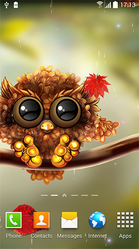 Owl by Live Wallpapers 3D für Android spielen. Live Wallpaper Eule kostenloser Download.