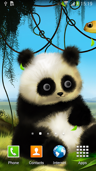 Screenshots of the Panda by Live wallpapers 3D for Android tablet, phone.