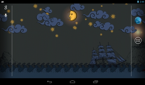 Screenshots of the Paper sea for Android tablet, phone.