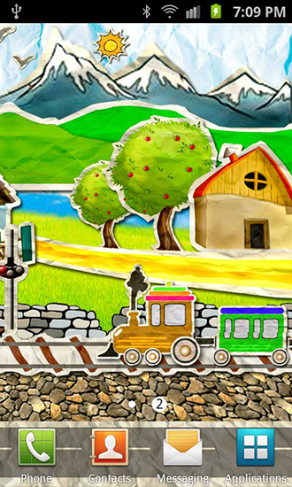 Download Paper train - livewallpaper for Android. Paper train apk - free download.