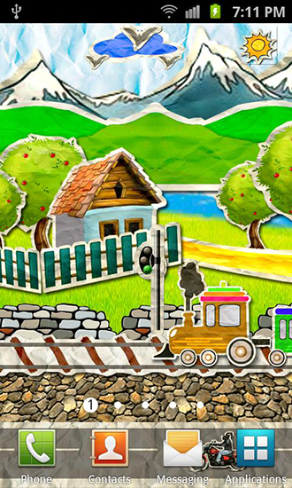 Screenshots of the Paper train for Android tablet, phone.