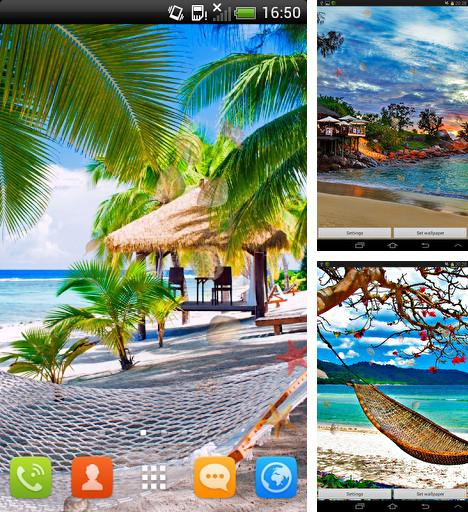 Download live wallpaper Paradise beach for Android. Get full version of Android apk livewallpaper Paradise beach for tablet and phone.