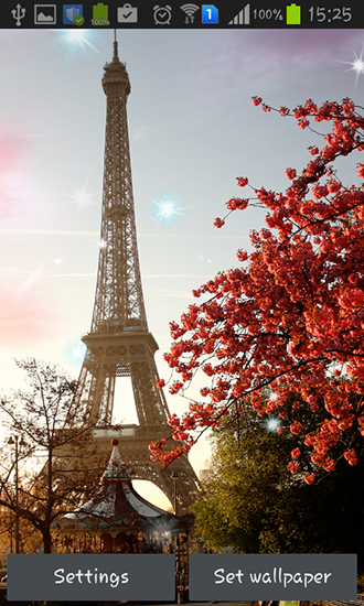 Screenshots of the Paris for Android tablet, phone.