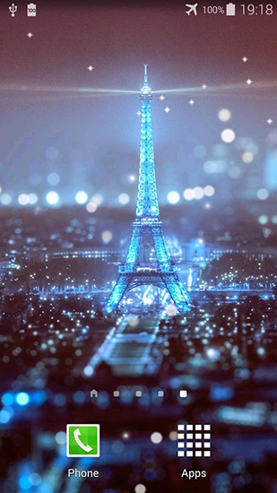 Screenshots of the Paris night for Android tablet, phone.