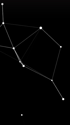Particle Constellations für Android spielen. Live Wallpaper Partikel Sternbiler kostenloser Download.