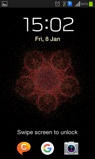 Screenshots of the Particle flow for Android tablet, phone.
