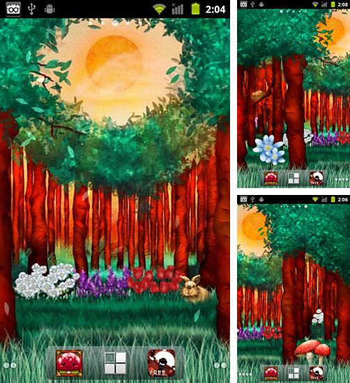 In addition to live wallpaper Winter snow clock for Android phones and tablets, you can also download Peaceful forest for free.