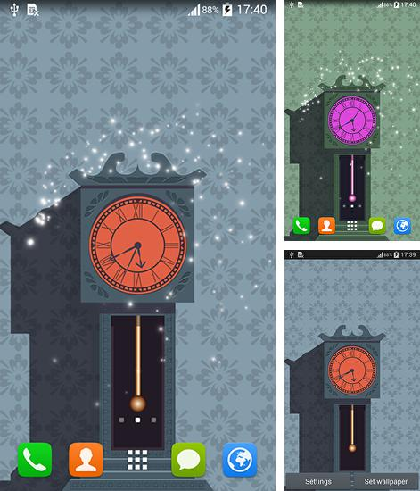 In addition to live wallpaper Meteor shower by Best Live Background for Android phones and tablets, you can also download Pendulum clock for free.