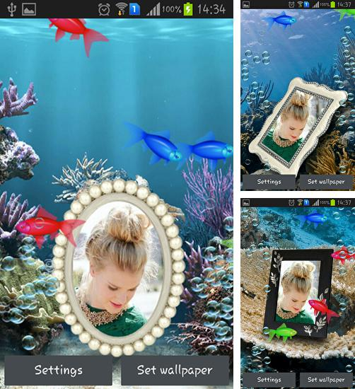 In addition to live wallpaper Stars by Jango LWP Studio for Android phones and tablets, you can also download Photo aquarium for free.