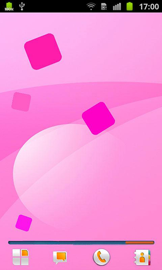 Screenshots of the Pink for Android tablet, phone.
