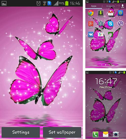 In addition to live wallpaper Heart and feeling for Android phones and tablets, you can also download Pink butterfly for free.