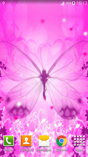 Descargar Pink Butterfly By Dream World Hd Live Wallpapers