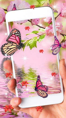 Kostenloses Android-Live Wallpaper Pinker Schmetterling. Vollversion der Android-apk-App Pink butterfly by Live Wallpaper Workshop für Tablets und Telefone.