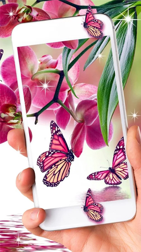 Screenshots von Pink butterfly by Live Wallpaper Workshop für Android-Tablet, Smartphone.