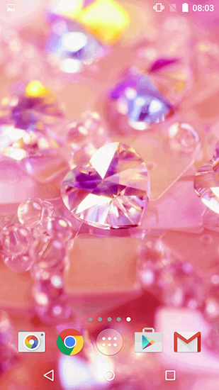 Download Pink diamonds - livewallpaper for Android. Pink diamonds apk - free download.