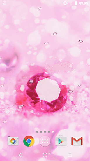 Screenshots of the Pink diamonds for Android tablet, phone.