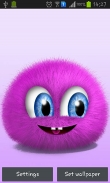 Pink fluffy ball - download free live wallpapers for Android. Pink fluffy ball full Android apk version for tablets and phones.