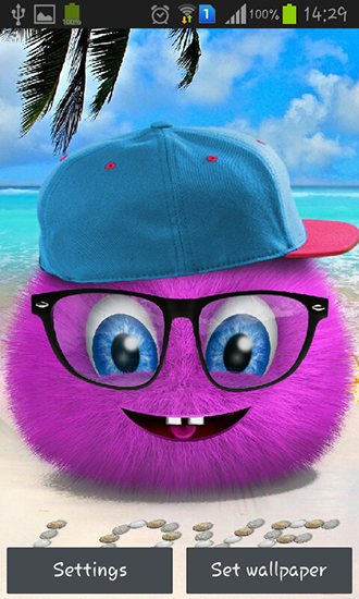 Screenshots of the Pink fluffy ball for Android tablet, phone.