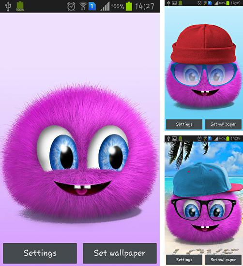 In addition to live wallpaper Love: Clock for Android phones and tablets, you can also download Pink fluffy ball for free.