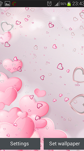 Download livewallpaper Pink hearts for Android. Get full version of Android apk livewallpaper Pink hearts for tablet and phone.