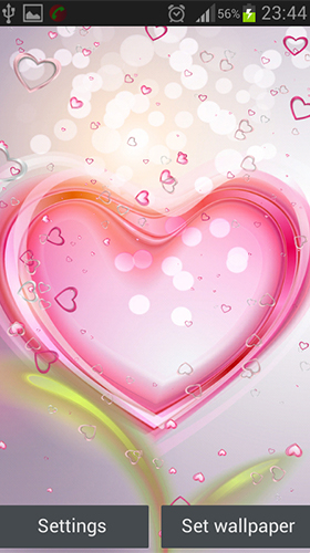 Download Pink hearts - livewallpaper for Android. Pink hearts apk - free download.