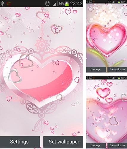 Download live wallpaper Pink hearts for Android. Get full version of Android apk livewallpaper Pink hearts for tablet and phone.