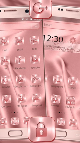 Screenshots of the Pink silk for Android tablet, phone.