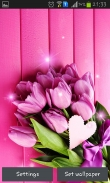 Pink tulips - download free live wallpapers for Android. Pink tulips full Android apk version for tablets and phones.