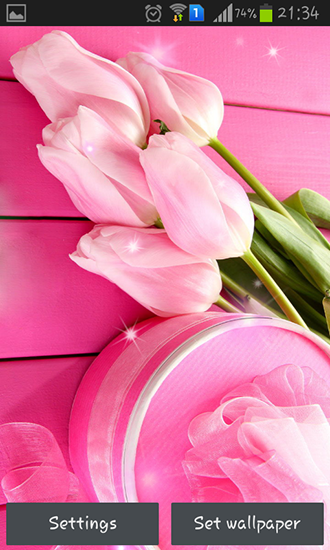Screenshots von Pink tulips für Android-Tablet, Smartphone.